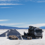 Work on the Salar de Pastos Grandes, Argentina, where CR3's Lobo Blanco Project lies.