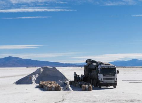 Work on the Salar de Pastos Grandes, Argentina, where CR3's Lobo Blanco Project lies.