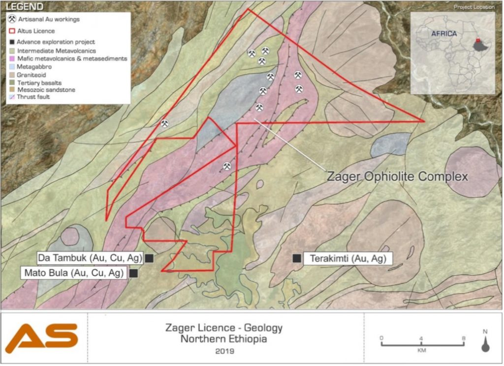 Altus strategies: Geology of the Zager licence