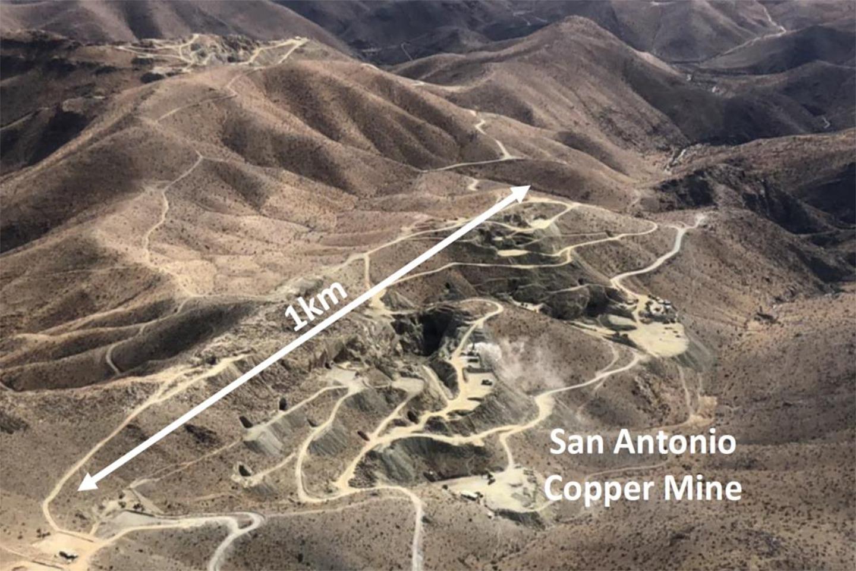 Aerial photo of Hot Chili's deposit, San Antonio, Chile