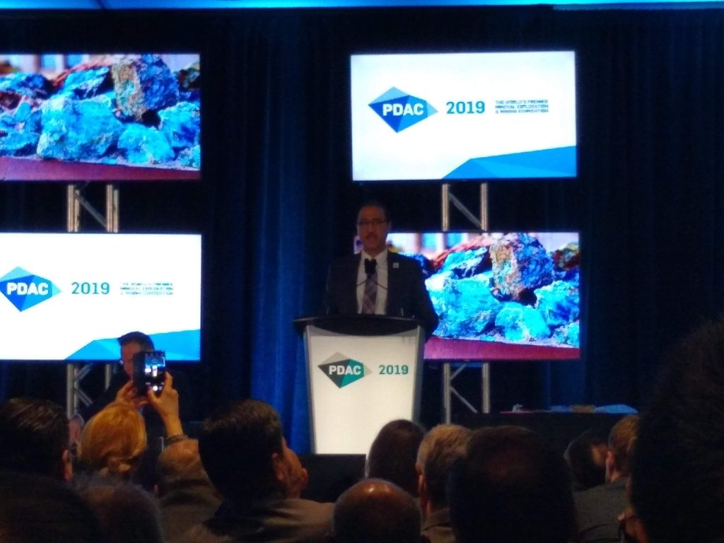Amarjeet Sohi, The Canadian Minister of Natural Resources, PDAC 2019