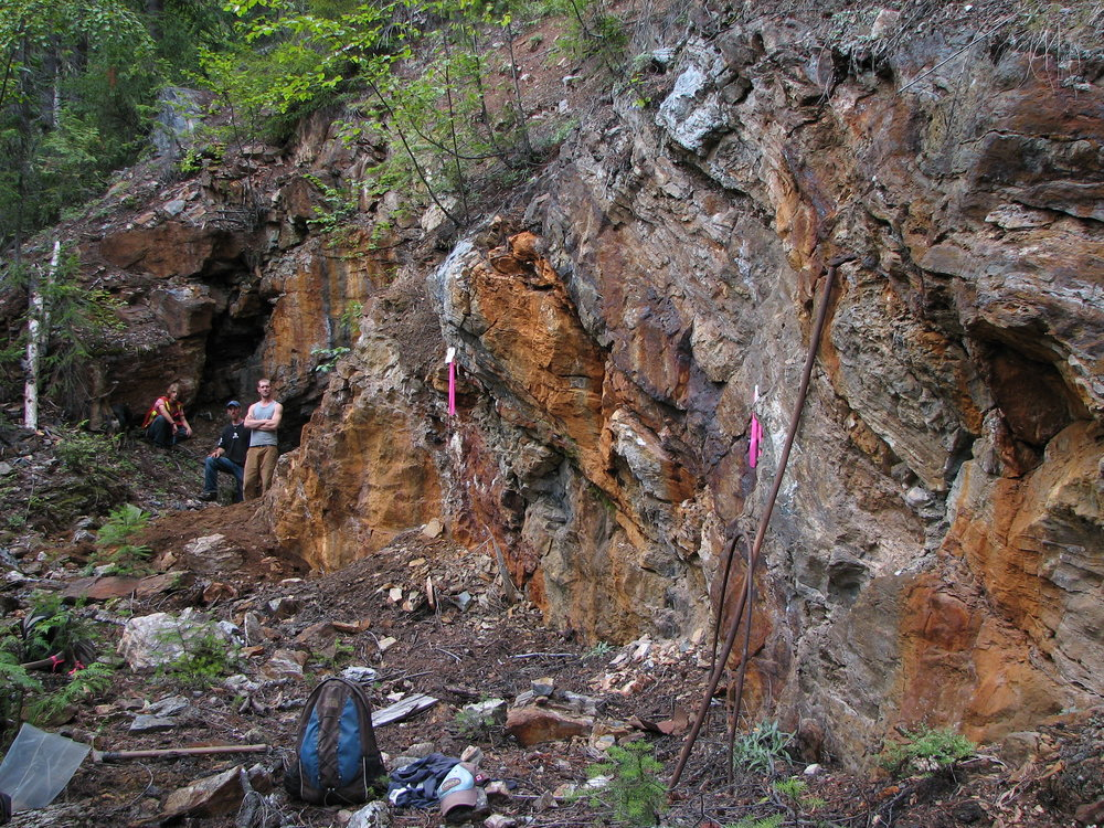 Marking and sampling at the Spey Resources (CSE : SPEY) Wigwam polymetallic project in British Columbia, Canada.