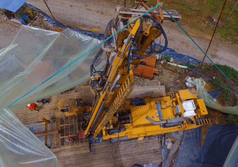 SolGold Drilling Rig in Ecuador - drilling on a copper gold project