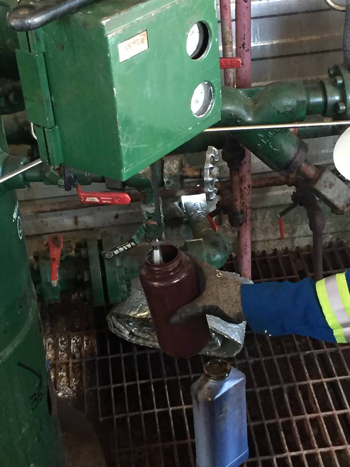 Taking samples from the Alberta oil fields where E3 are beginning to produce Petro-Lihium (Image - E3)