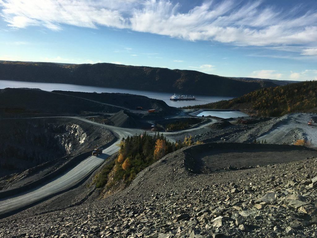 View out over the harbour at Anaconda Mining's Baie Verte project