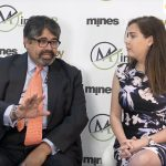 Bharat Parashar, CEO, Ceylon Graphite, being interviewed at Mines and Money London by MiningIR