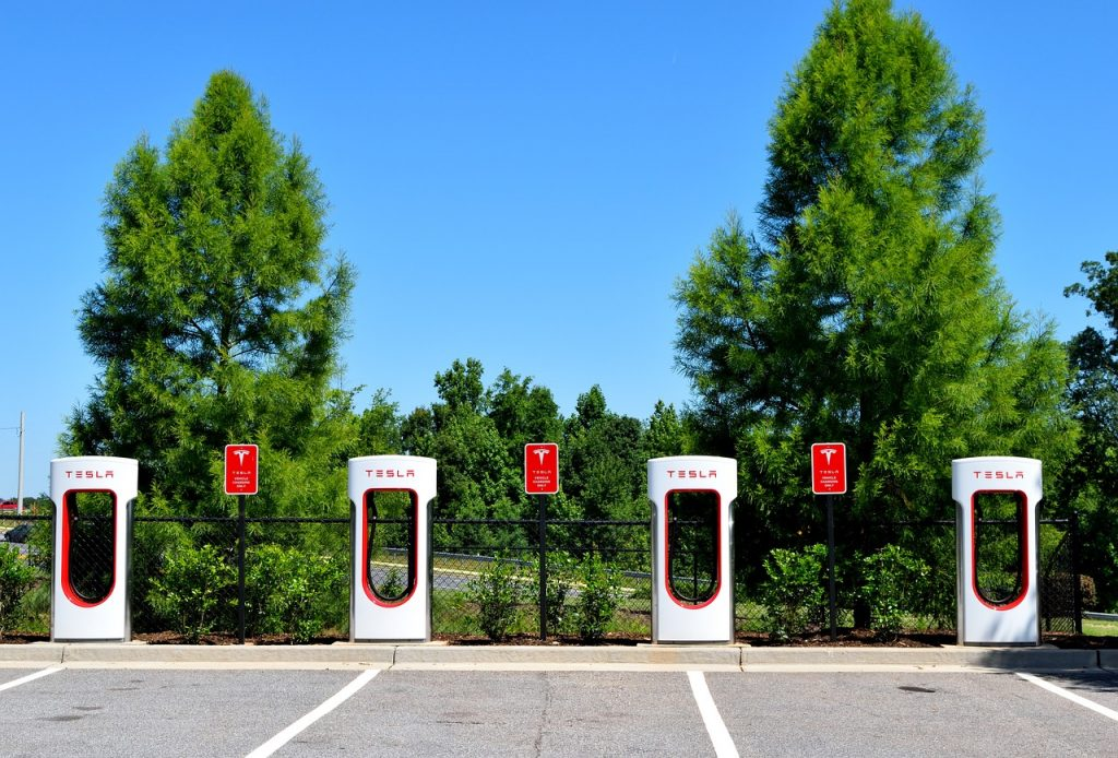 Electric car charging points, electric vehicles, EVS