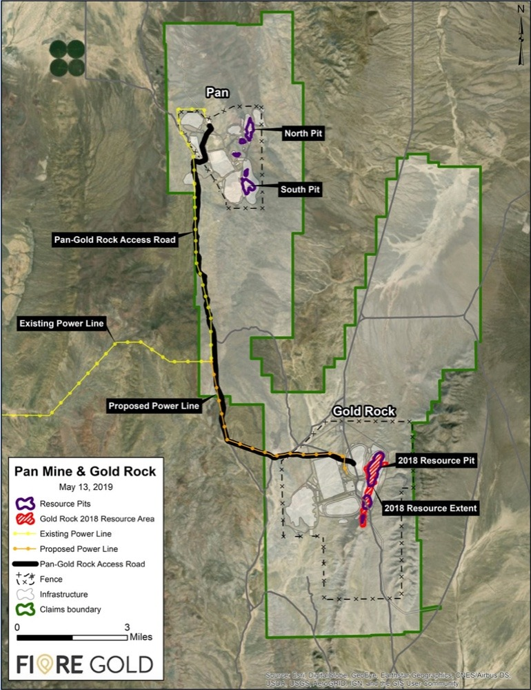 fiore gold gold rock project map nevada