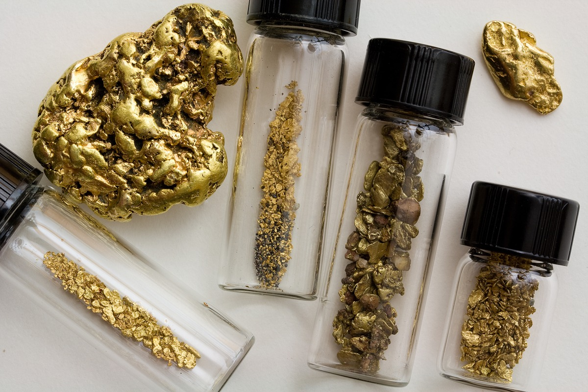 Natural Gold Nuggets and Dust - California, United States