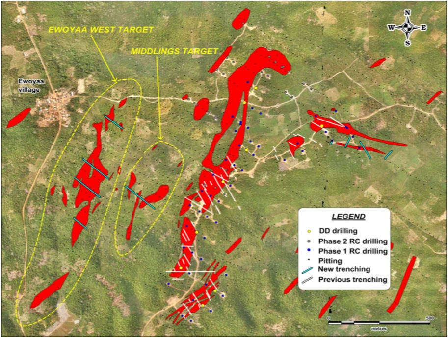 IronRidge Resources - New target footprints adjacent to known mineralisation and drilling over the Ewoyaa deposit