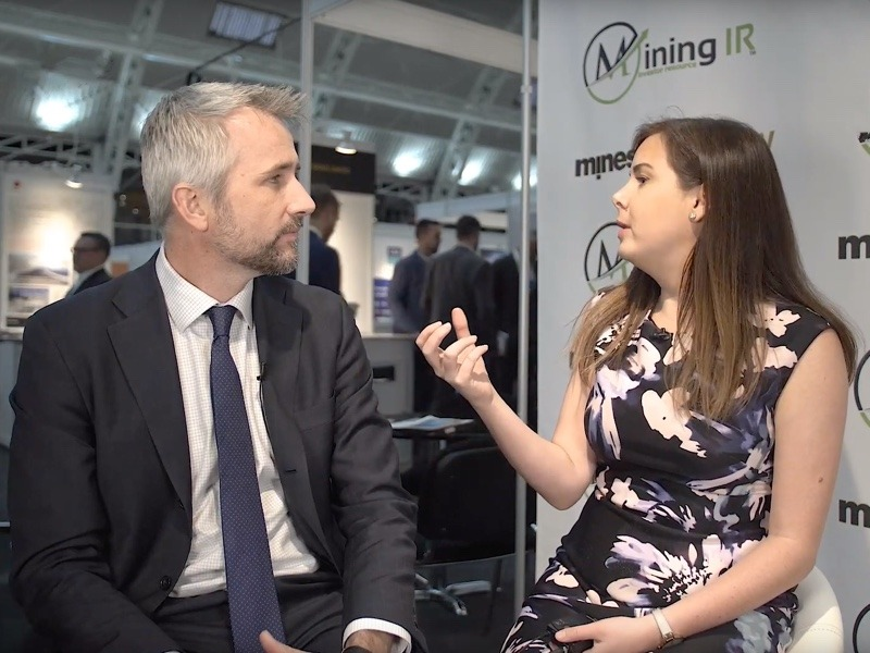 Len Kolff of Ironridge Resources being interviewed at Mines and Money London by MiningIR
