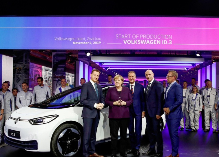 Volkswagen ID.3 launch with Angela Merkel